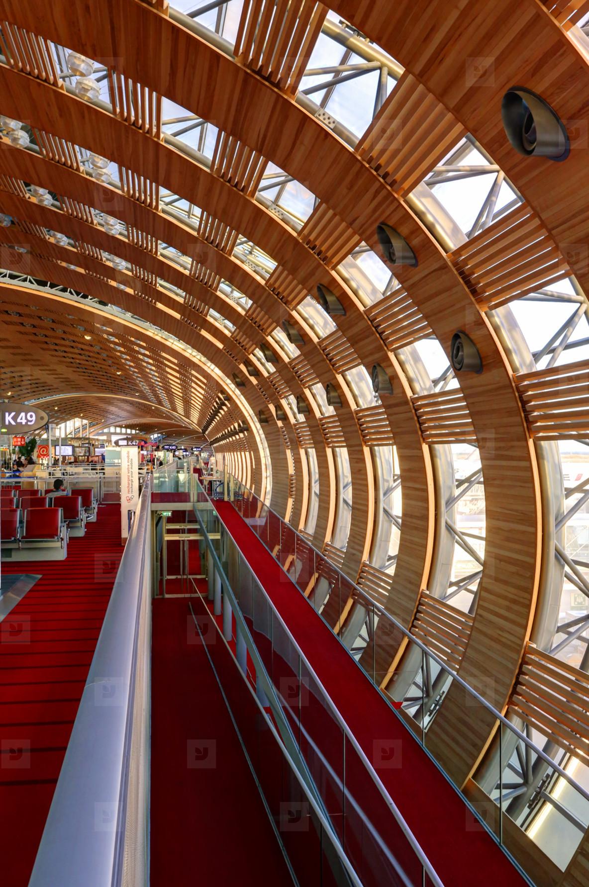 Paris CDG Terminal Interior  1