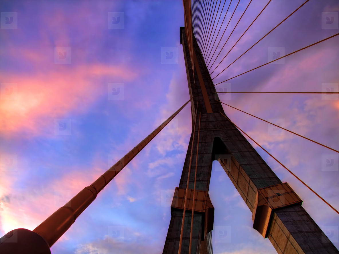 Rama VIII Bridge Pylon Abstract