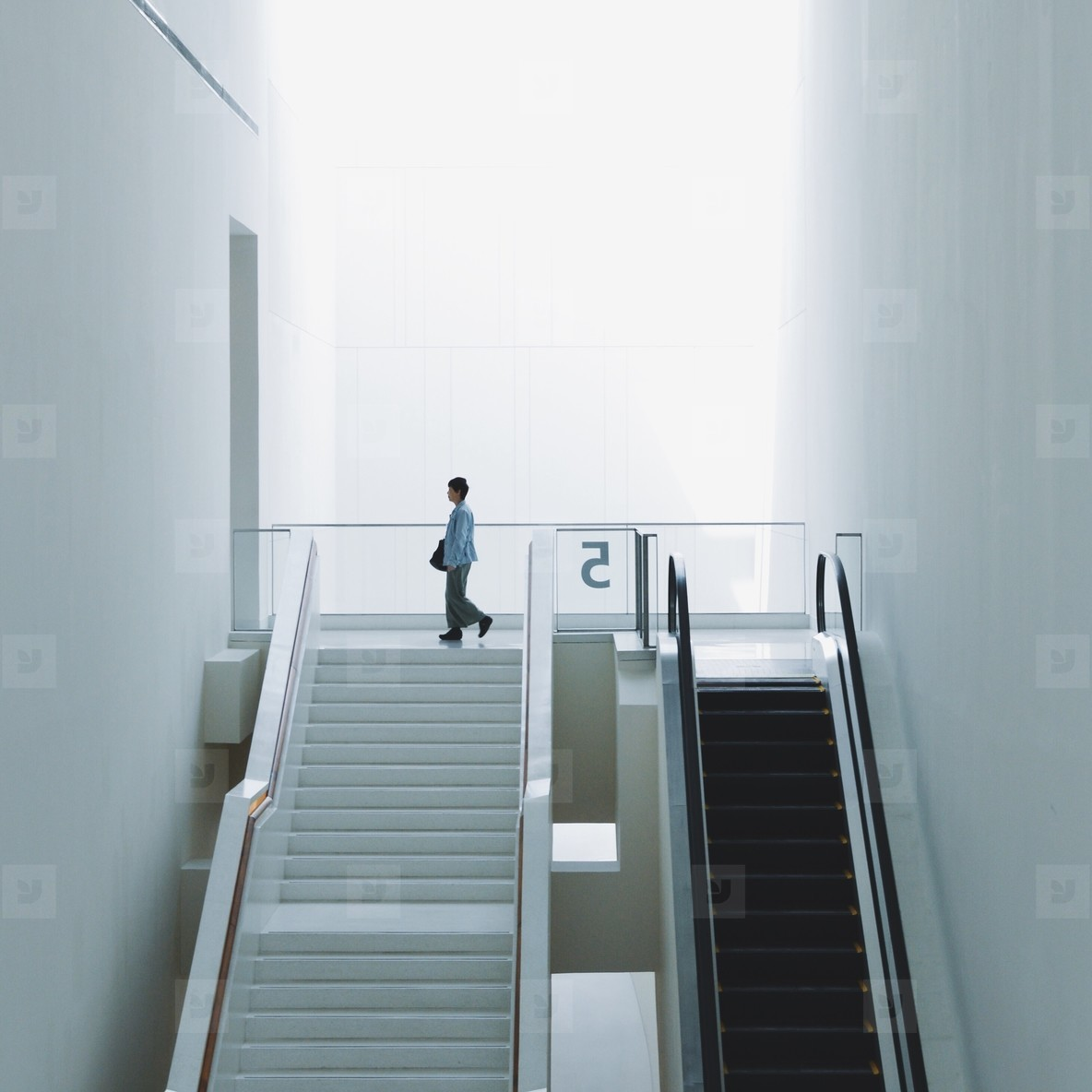 Stairway and escalator