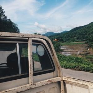 Pickup truck Nature view