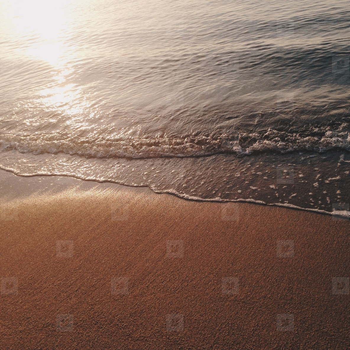 Soft wave of the sea on the sand
