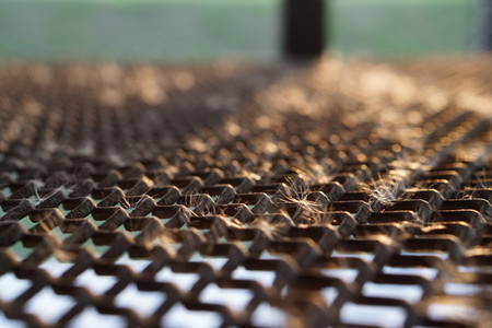 Rust steel grating