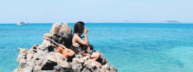 Girl at reef