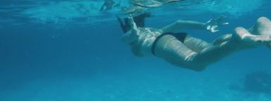 Beautiful girl snorkelling  2