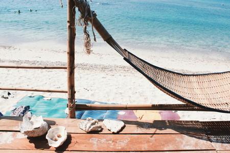 Tropical beach vacation concept