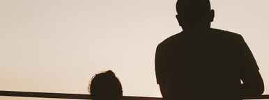 Silhouette of a happy couple