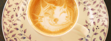 Cute latte art coffee