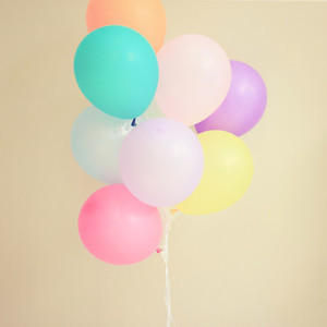 Colorful festive balloons