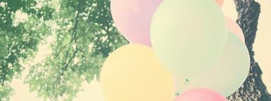 Colorful festive balloons