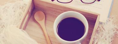 Eyeglasses and black coffee