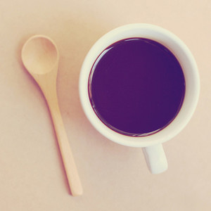 Black coffee and spoon