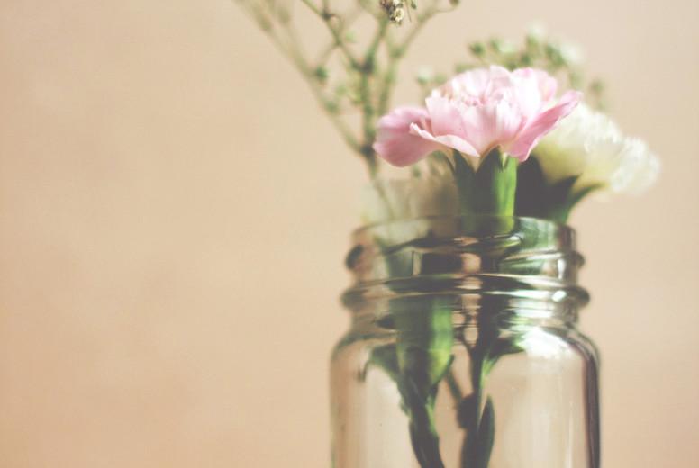 Ornamental flower in glass