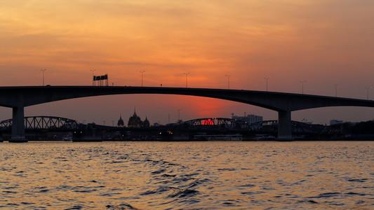 Bangkok Bridge   River Sunset