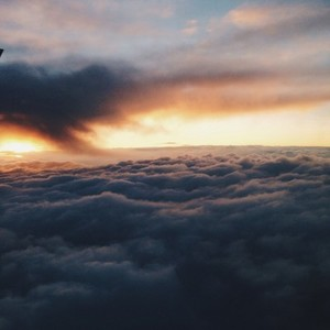 floating on the cloud