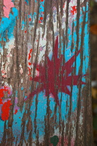 graffito   wood