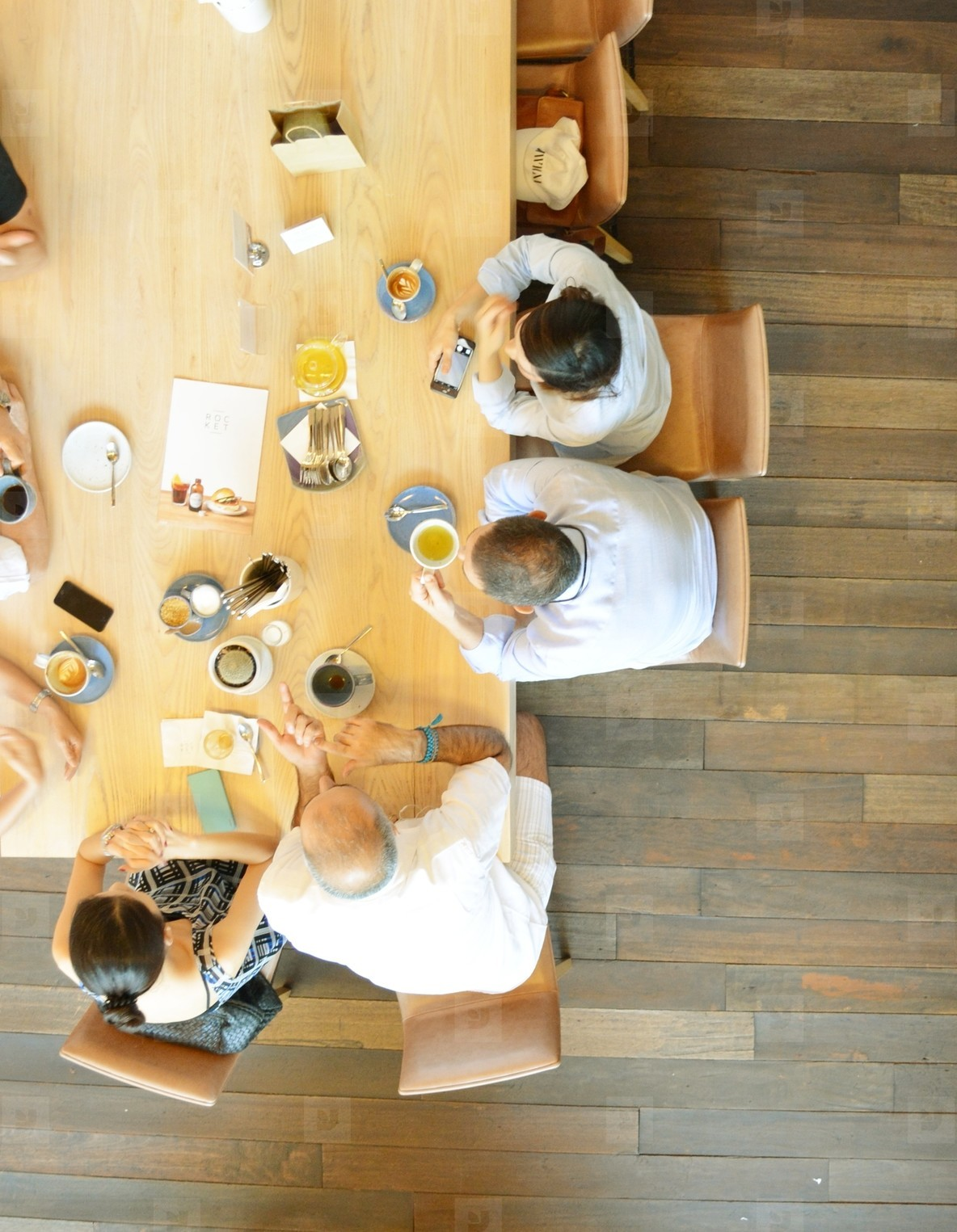 Group of business at cafe