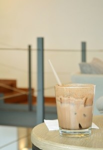 Iced Coffee on wood table