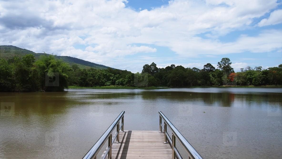 Bridge on calm river
