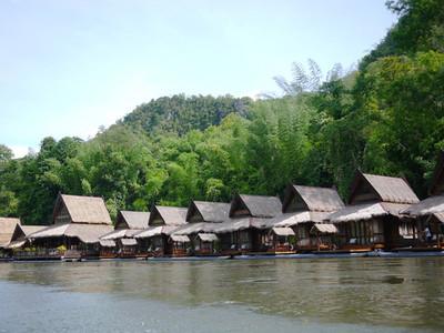 Floating raft  Kanchanaburi