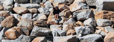 Sitting on Stone