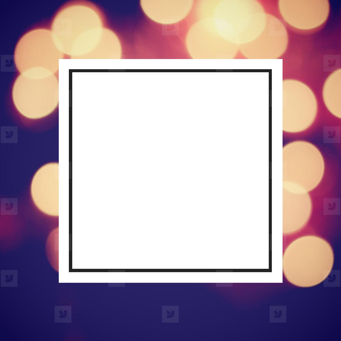 bokeh light and design frame