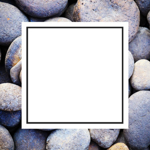 pebble stone and design frame
