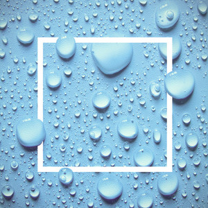 drops of water and design frame