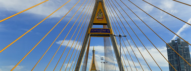 Golden Spires  Bhumibol bridge 2