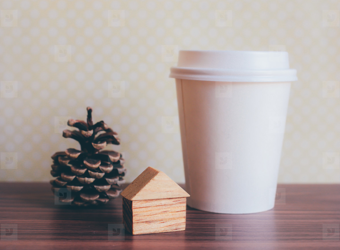 Ornament craft and coffee cup