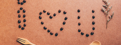 I love you from coffee beans