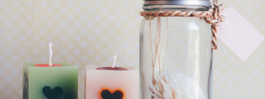 Aroma bottle and candle