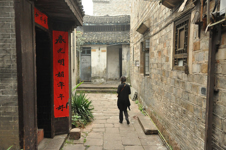 Woman walking in Fenghuang
