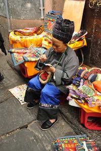 Miao woman in traditional wear
