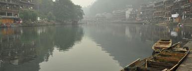 Morning waterside in Fenghuang