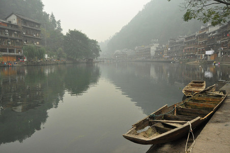 Morning waterside in Fenghuang