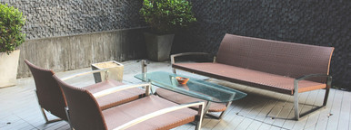 Luxury bench in smoking area