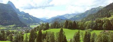 Beautiful view of rural alpine