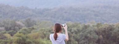Girl making photos