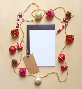 Blank card and christmas