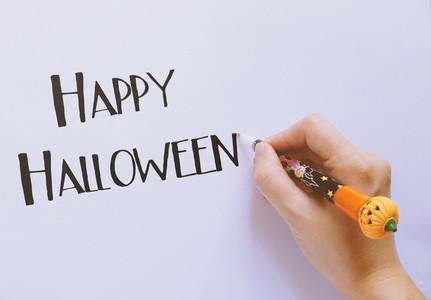 Happy halloween word