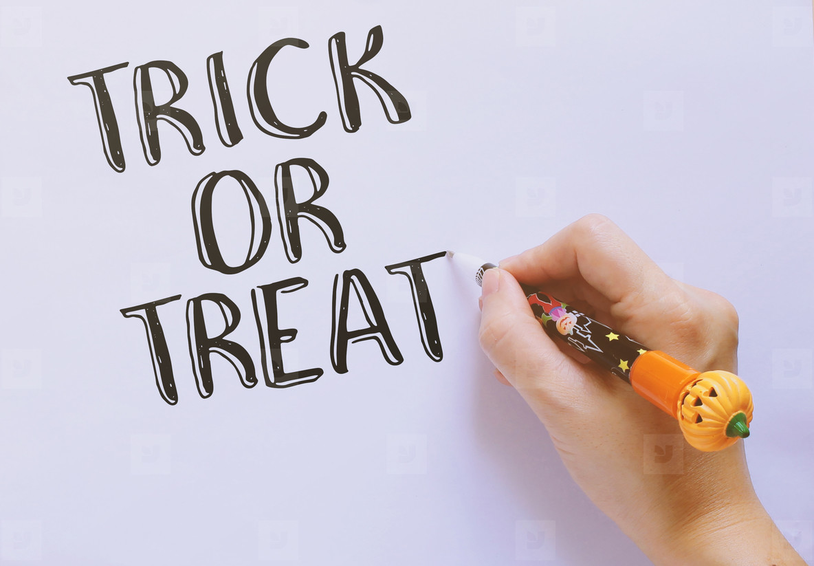 Trick or treat word