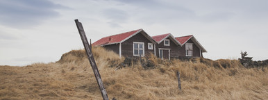 Traditional red house  Iceland