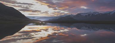 Arctic sunset  Iceland