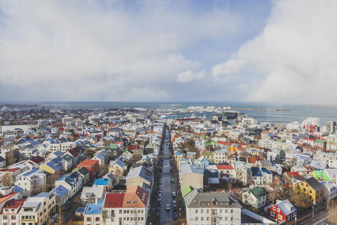 Aerial view of Reykjavik