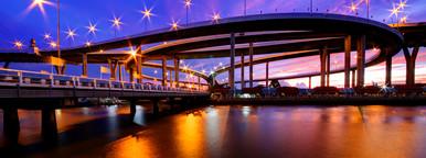 Stars   Curves  Bhumibol Bridge