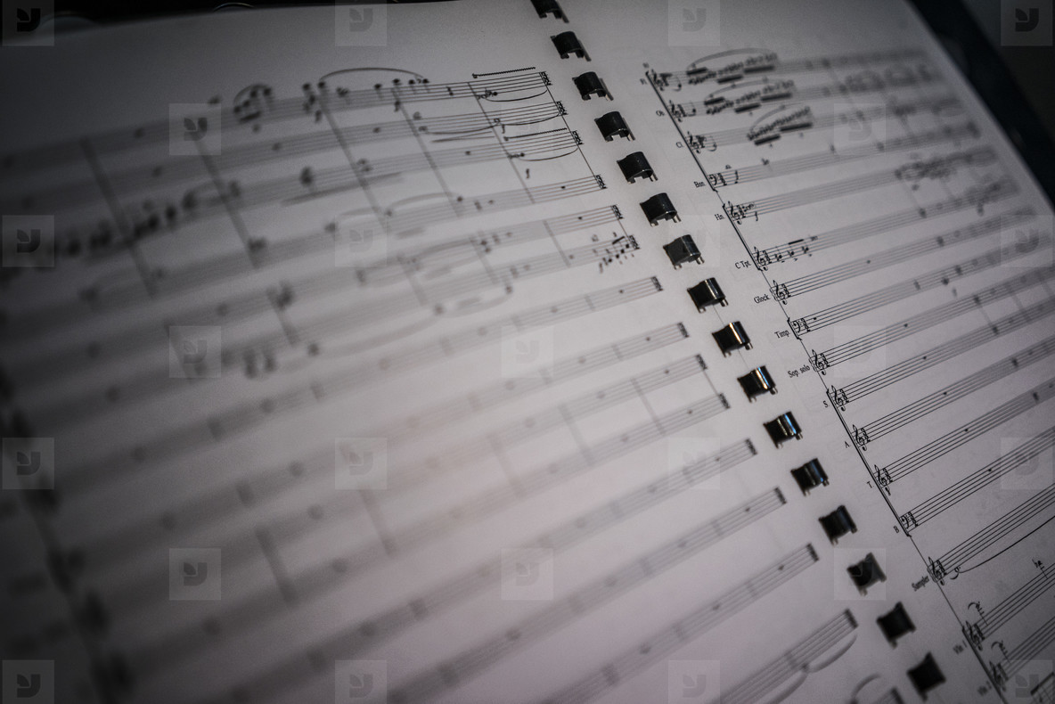Music Sheet Closeup