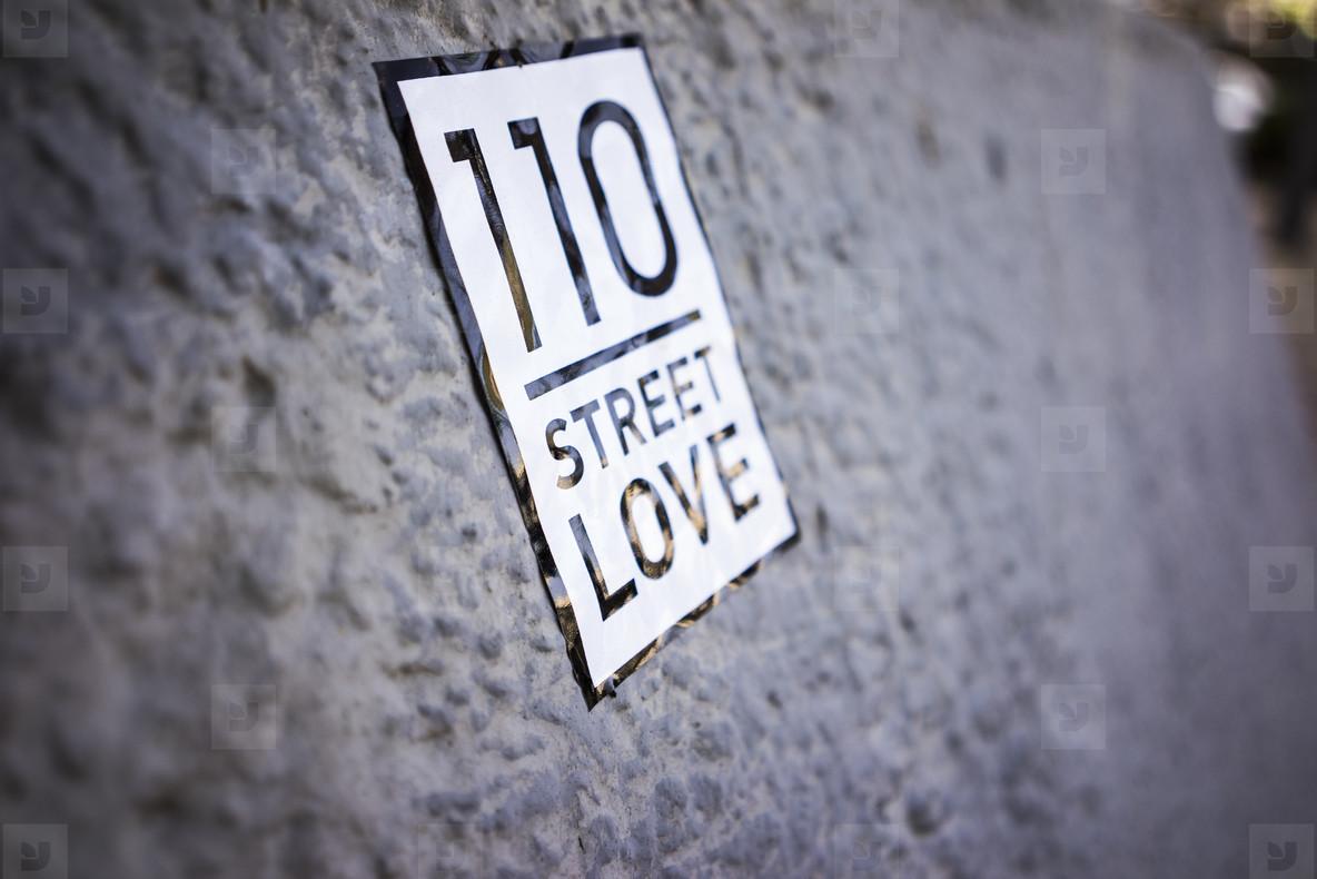 Nice Street Love Sign
