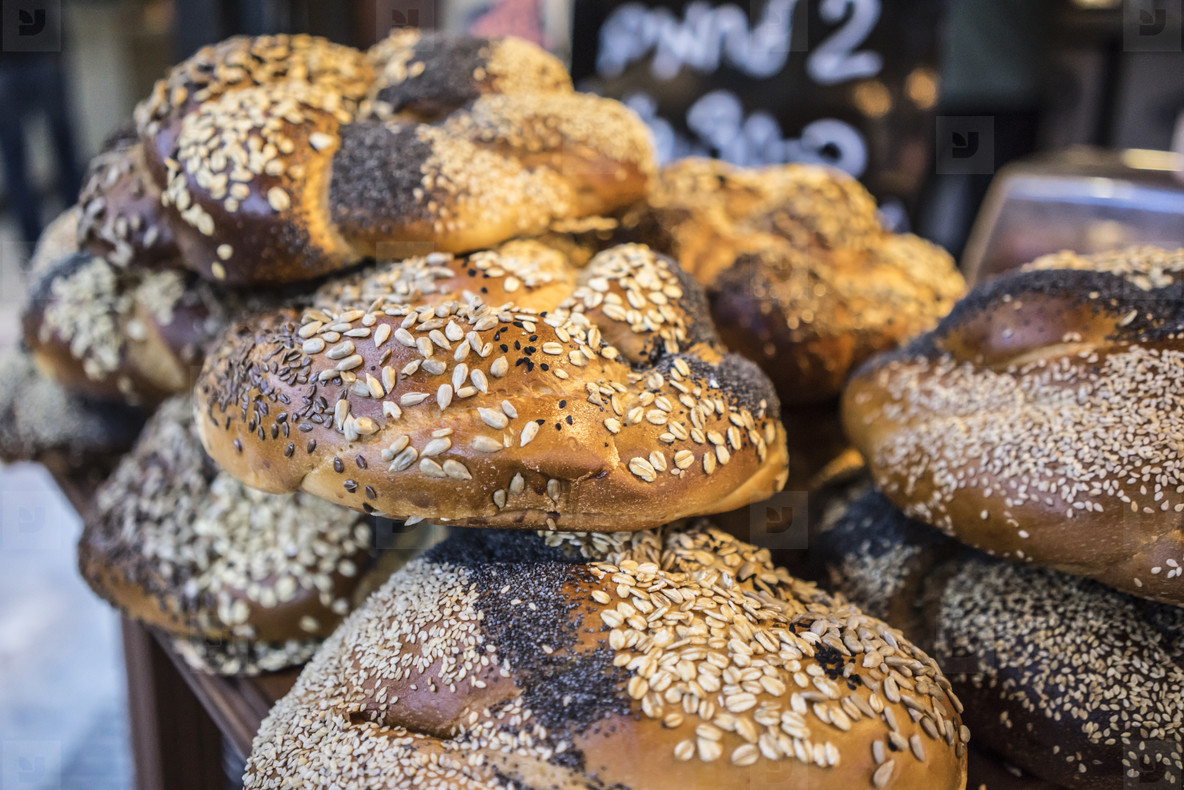 Mixed breads closeup