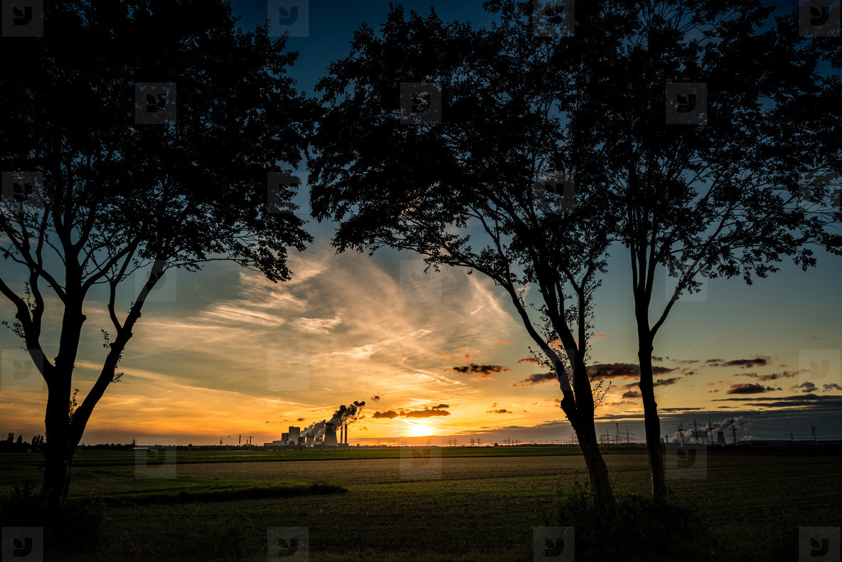 Industrial sundown