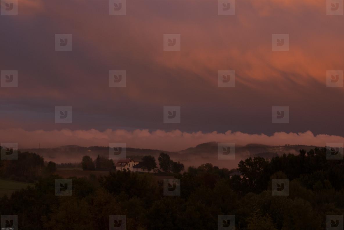 Dramatic misty landscape